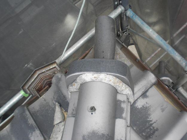 棟瓦の漆喰工事前CIMG1429