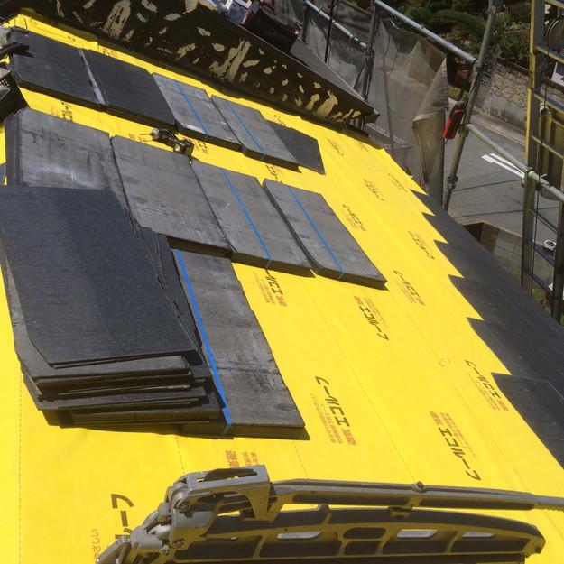新設カラーベスト屋根材敷設1438741053162