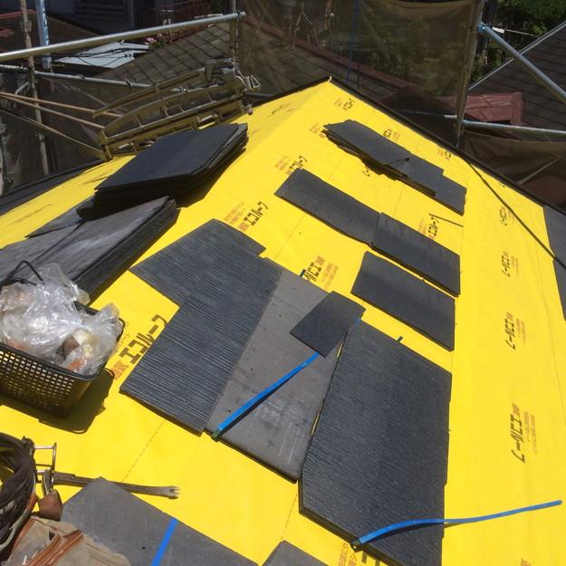 新設カラーベスト屋根材敷設1438741055187
