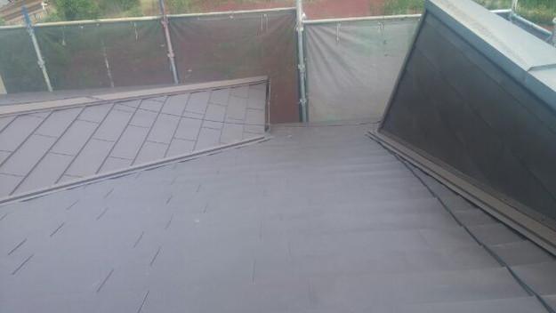 カバー工法による屋根リフォーム工事完了写真1439092064868