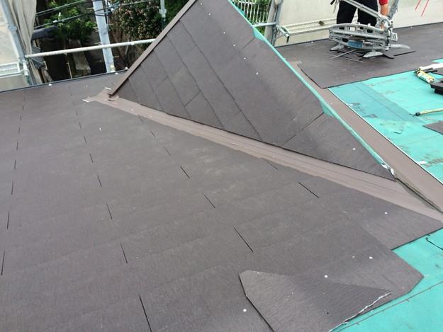 カラーベスト屋根材敷設リフォーム工事神戸市1441974802053
