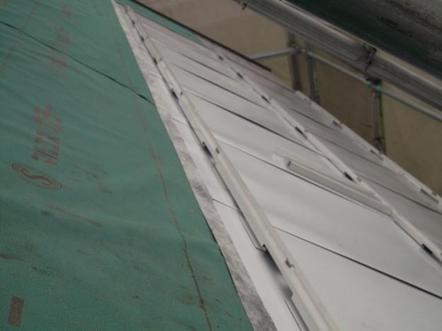 太陽光ソーラーパネル設置工事ベース設置中DSCF1947