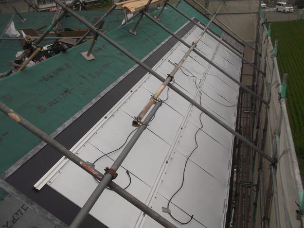 太陽光ソーラーパネル設置工事ベース設置中DSCF1948