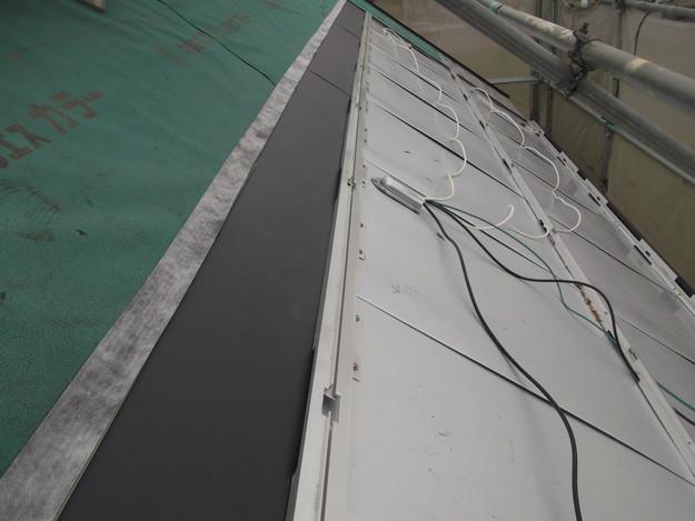 太陽光ソーラーパネル設置工事ベース設置中DSCF1950