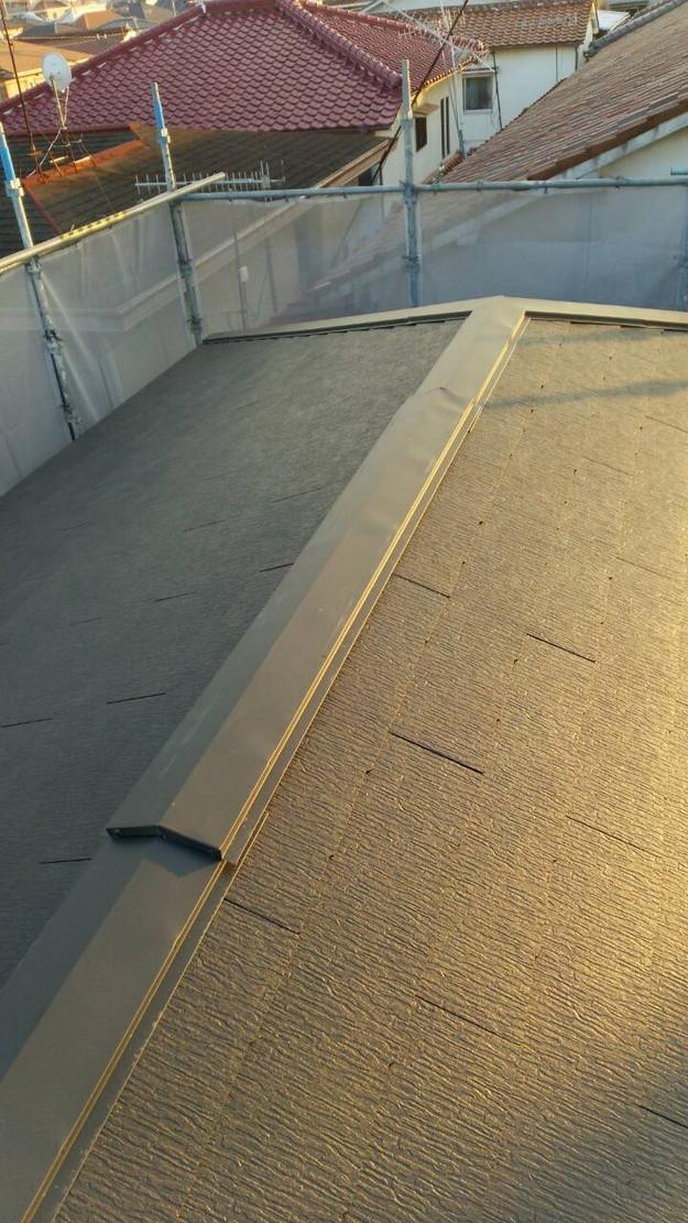 屋根のリフォーム完成1443534459208