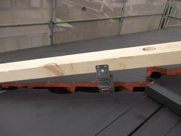 屋根のリフォーム新設瓦設置中棟部DSCF2054