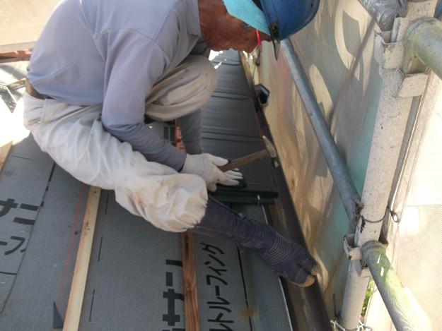 屋根のリフォーム新設瓦設置中DSCF2042