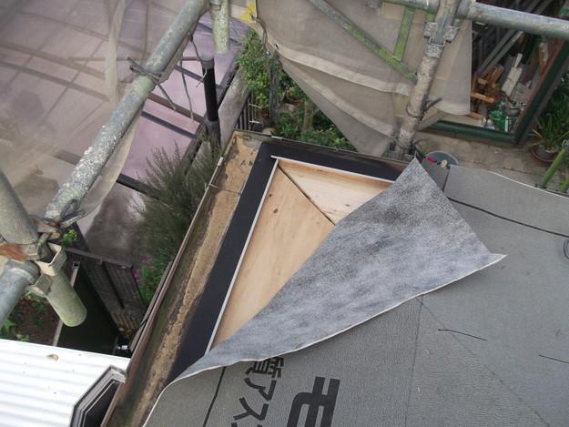 屋根のリフォーム新設瓦設置中DSCF2050
