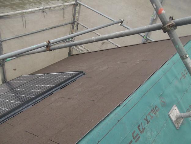 屋根材敷設中カラーベストDSCF1956