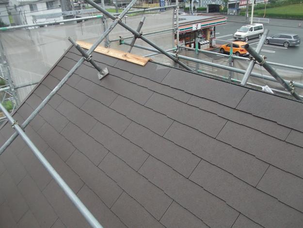 屋根材敷設中カラーベストDSCF1960