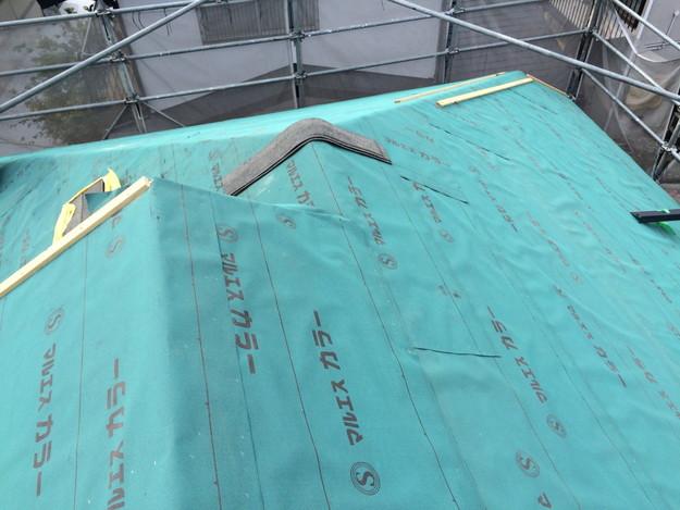 屋根防水シート張り新築屋根工事1443837638016