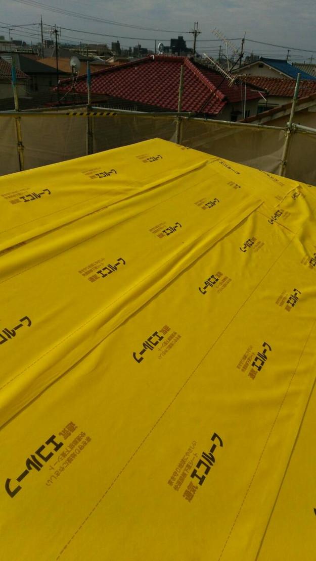 屋根防水シート張り1443534453324