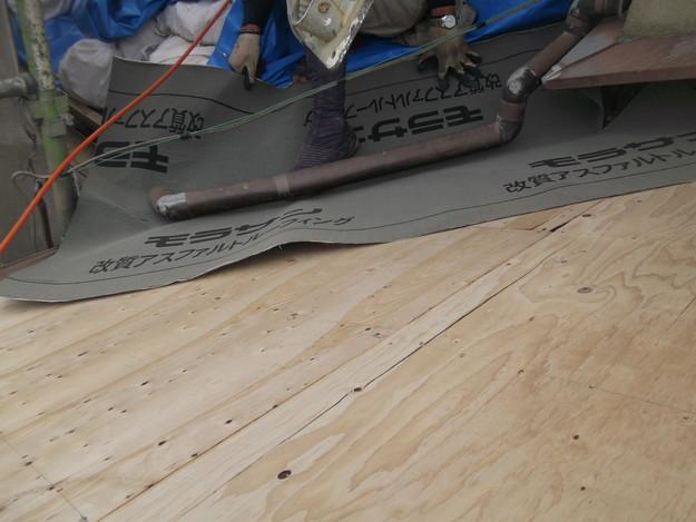 屋根防水シート張りDSCF2035
