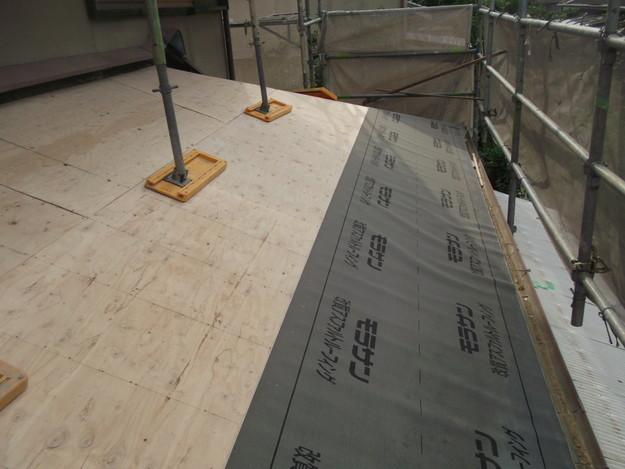 屋根防水シート張りDSCF2036