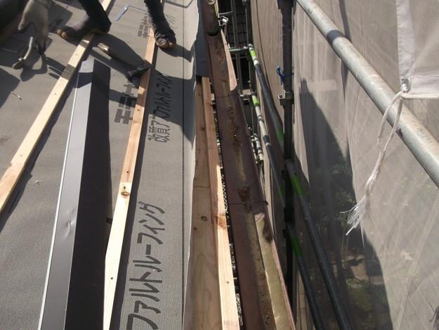 屋根防水シート張りDSCF2037