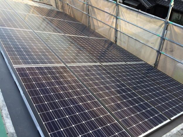 新築屋根工事と太陽光ソーラーパネル設置工事1443837705296