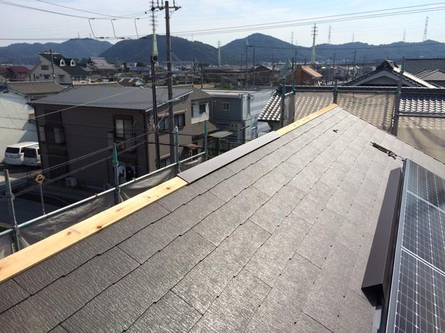 新築屋根工事と太陽光ソーラーパネル設置工事1443837720405