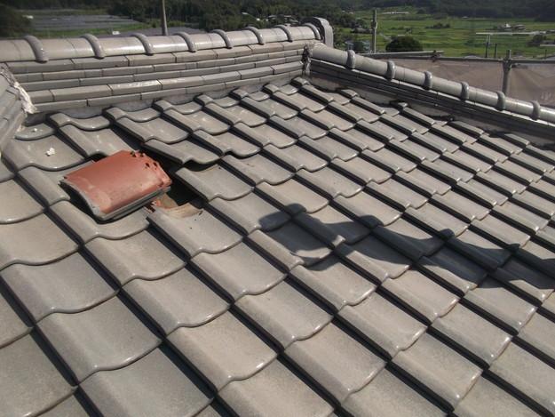 施工前の瓦屋根のリフォームDSCF2001