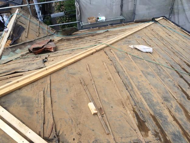 既存の瓦撤去後1441974745913