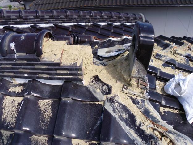 棟瓦箇所雨漏り対策屋根修理DSCI0392