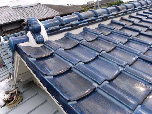 雨漏り対策漆喰工事とラバー工事DSCI0278