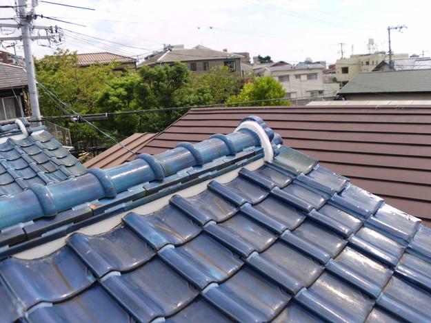 雨漏り対策漆喰工事とラバー工事DSCI0281