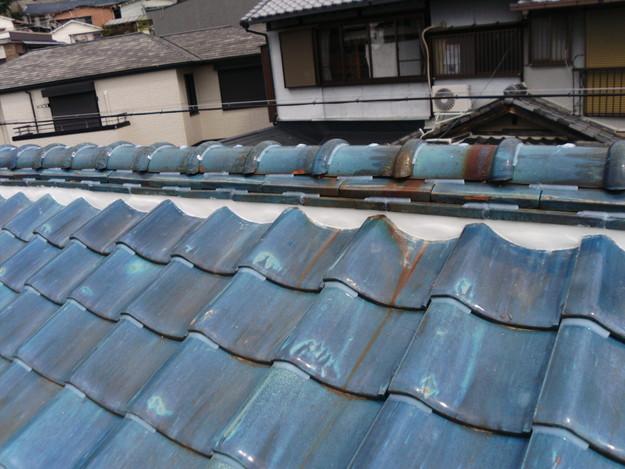 雨漏り対策漆喰工事とラバー工事DSCI0284