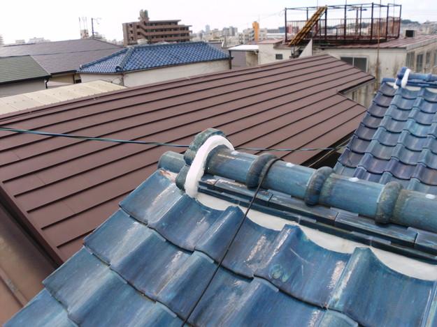 雨漏り対策漆喰工事とラバー工事DSCI0286