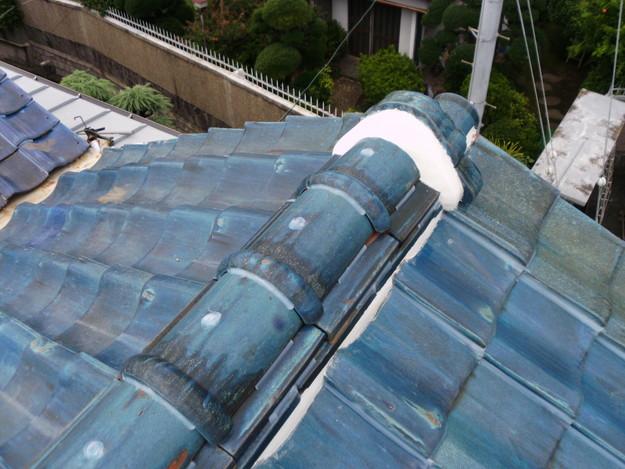 雨漏り対策漆喰工事とラバー工事DSCI0290