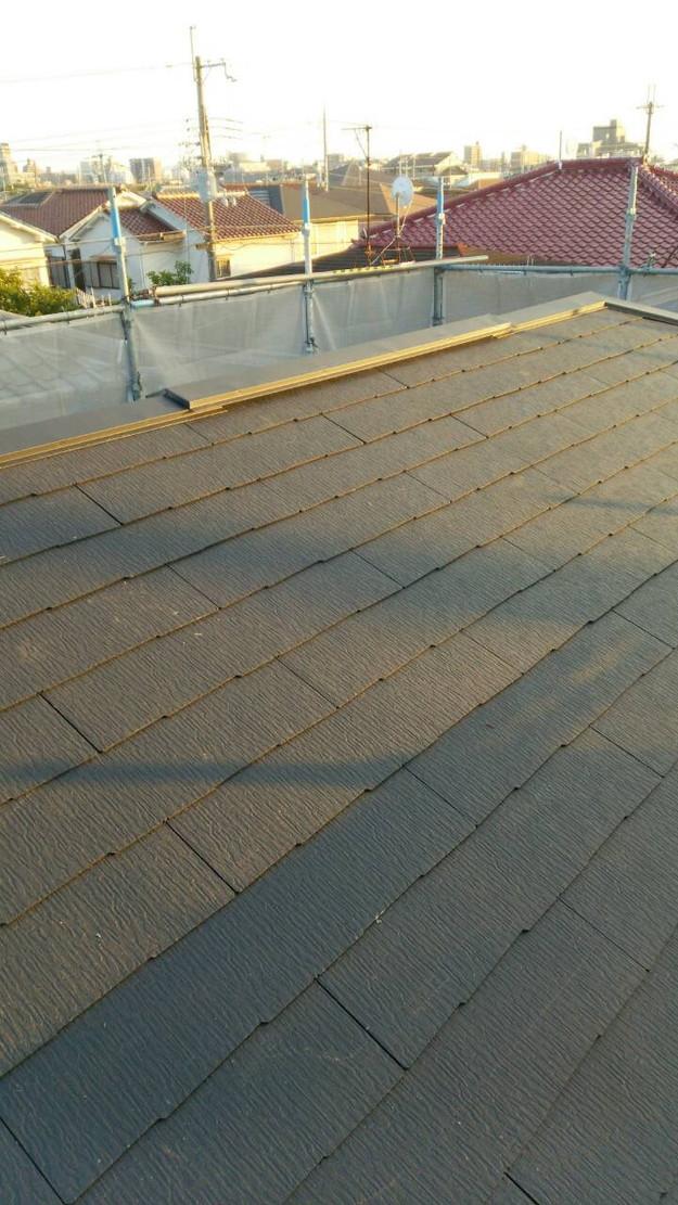 屋根のリフォーム完成屋根裏換気システム1443534523795