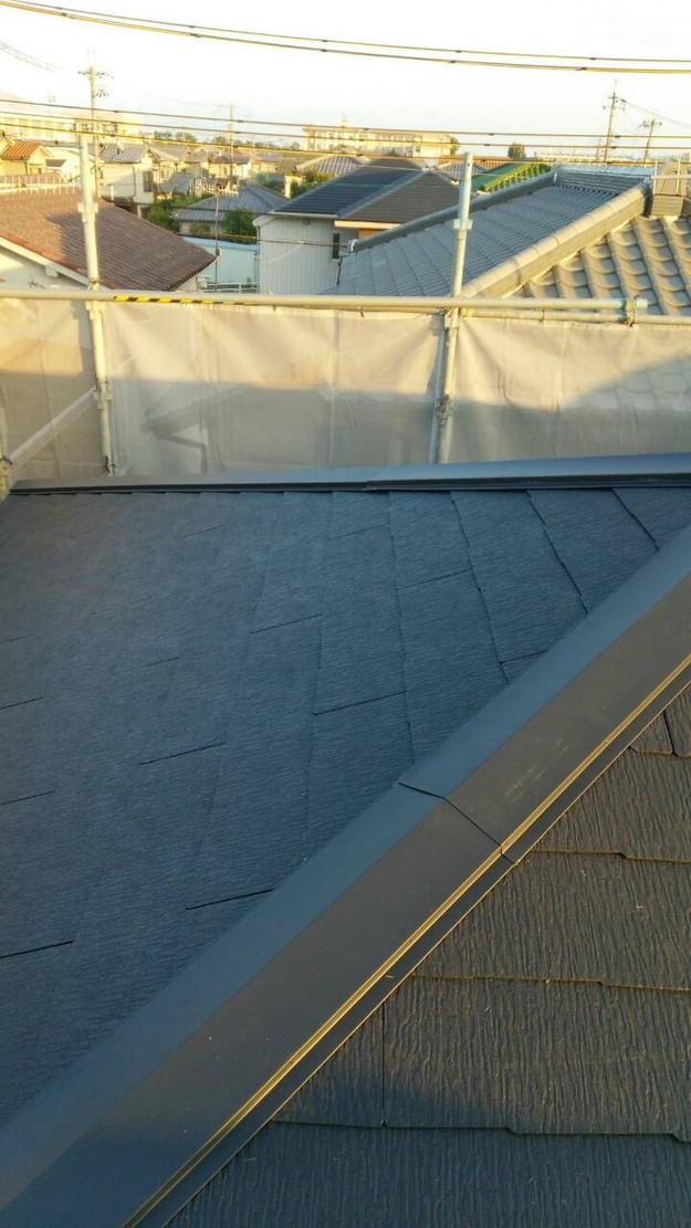 屋根のリフォーム完成1443534456366