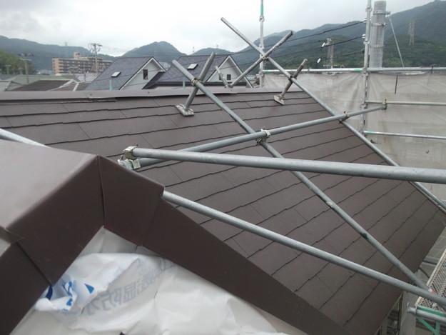 屋根材敷設カラーベストDSCF1977