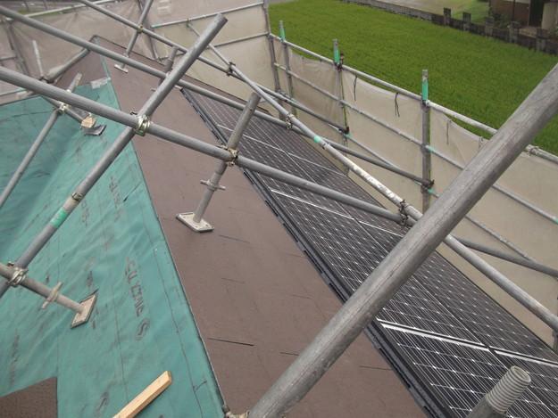 屋根材敷設中カラーベストDSCF1957