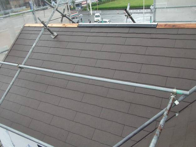 屋根材敷設中カラーベストDSCF1962