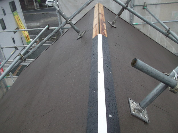 屋根材敷設中屋根裏換気DSCF1963