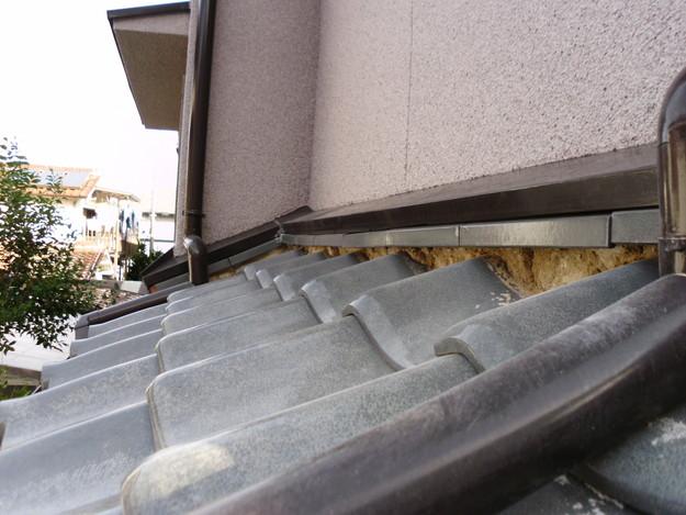 屋根漆喰交換作業中DSCI0323