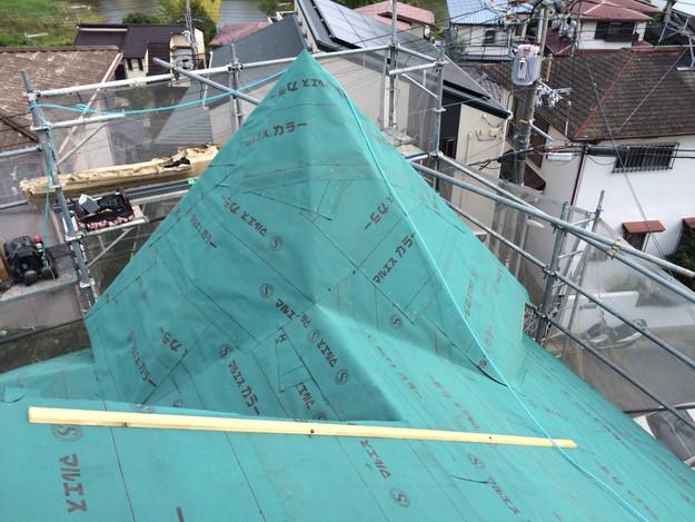 屋根防水シート張り新築屋根工事1443837629400