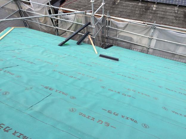 屋根防水シート張り新築屋根工事1443837631463