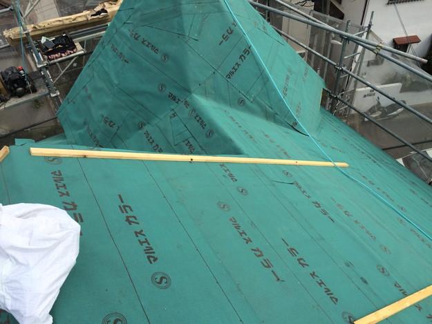 屋根防水シート張り新築屋根工事1443837633397