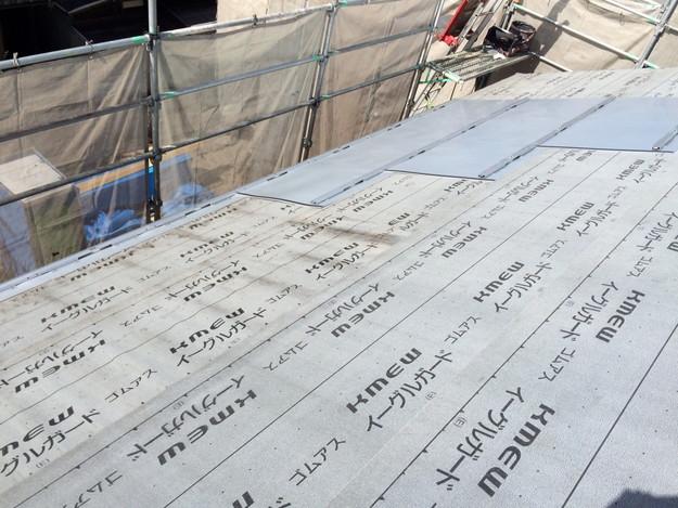 新築屋根工事と太陽光ソーラーパネル設置工事1443837682699