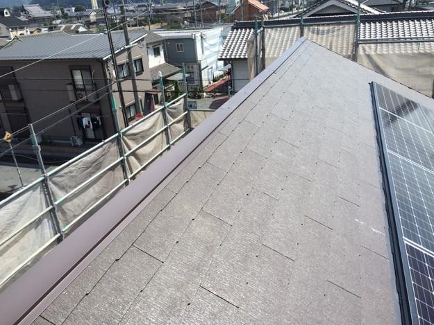新築屋根工事と太陽光ソーラーパネル設置工事1443837735272