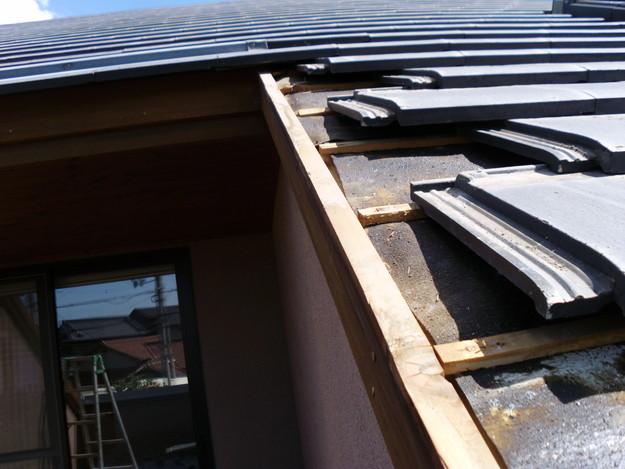 施工中雨漏り修理ケラバ箇所DSCI0149
