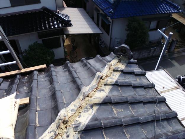 棟瓦箇所雨漏り対策屋根修理DSCI0394