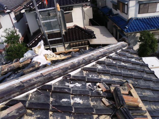 棟瓦箇所雨漏り対策屋根修理DSCI0395