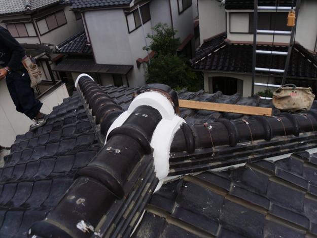 棟瓦箇所雨漏り対策屋根修理DSCI0402
