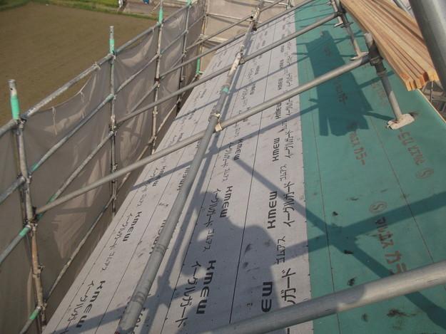 防水シート張り新築屋根工事DSCF1943