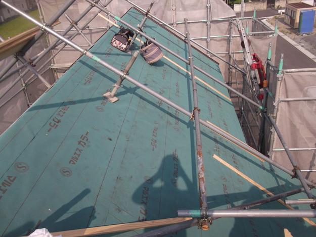 防水シート張り新築屋根工事DSCF1944