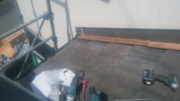 雨漏り修理壁際板金工事1441972135315