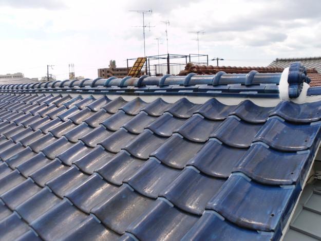 雨漏り対策漆喰工事とラバー工事DSCI0277