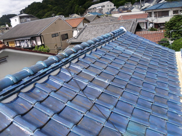 雨漏り対策漆喰工事とラバー工事DSCI0283